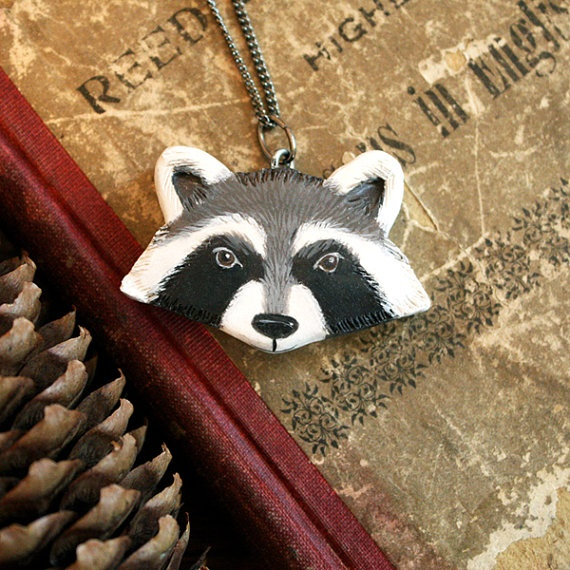 Riley Racoon - Necklace by DormouseStudio