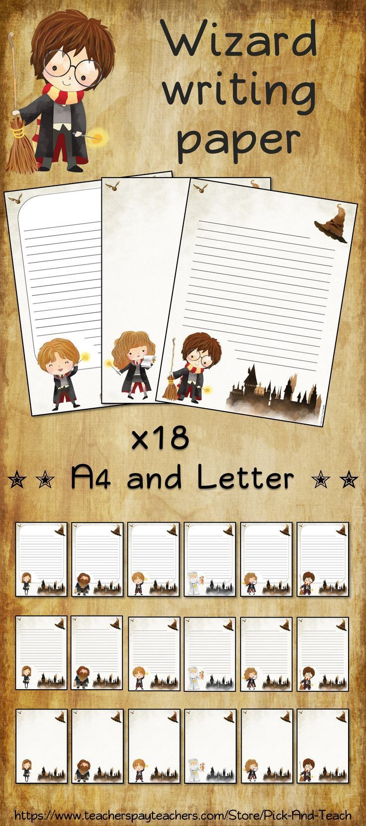 Writing And Or Drawing Paper For Harry Potter Fans 3 Different Styles Lined And Unlined 6 D Harry Potter Planner Harry Potter Letter Harry Potter Classes