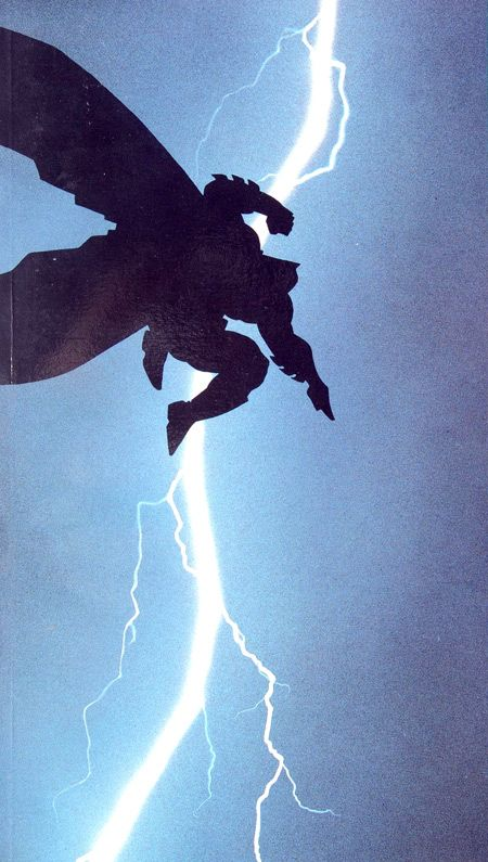 Frank Miller's Batman illustration here is just superb. The composition is perfect, and the power and intensity of the lightening strike adds even more potency to the portrayal of Batman.