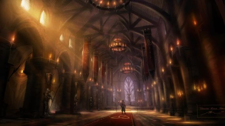 castle throne hall fairfax fable concept fantasy room medieval odin anime environment god light gold google stone wikia multicross creating