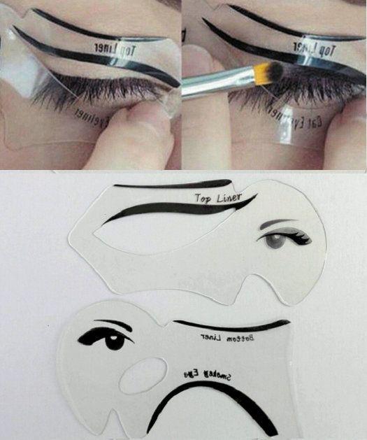 2 шт. Быстрый макияж глаз шаблоны Ресниц карты кошка подводка для глаз smoky eye liner карты бровей лайнер легко макияж глаз инструменты #women, #men, #hats, #watches, #belts, #fashion, #style