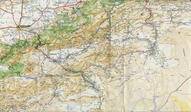 carte maroc du sud | Carte du coin (extrait de la carte régionnale ) :
