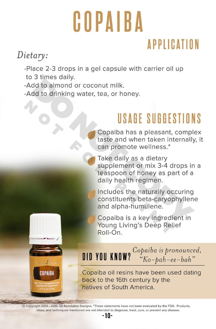 Copaiba: Oily Families Essential Oil Starter Guide by Oil Revolution Designs - issuu