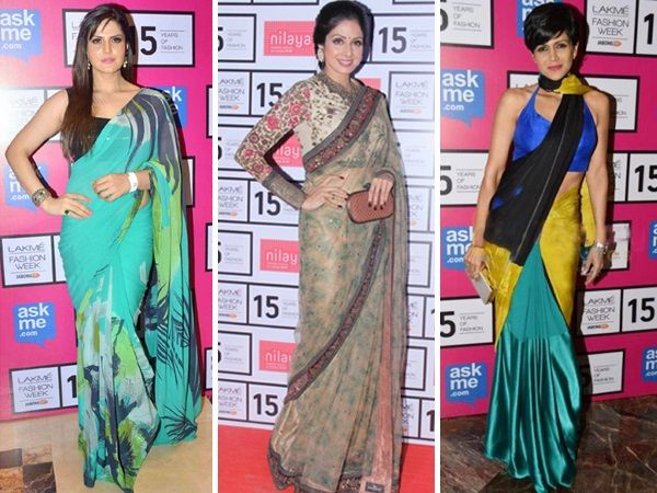 No matter what's trending in the fashion world, saris are never out of vogue. They just make a woman look sexy and elegant at the same time. With some backless and off-shoulder blouses in trend now, we checked up on actresses who know how to carry off the six yard drape cloth with élan. Check out Bollywood damsels who can effortlessly pull off the ethnic look. Image courtesy: Facebook/BCCL Don't Miss! Divas Who Rocked the Slick Parted Hairstyle