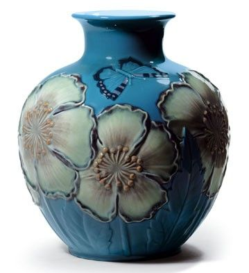 POPPY FLOWERS VASE (BLUE)