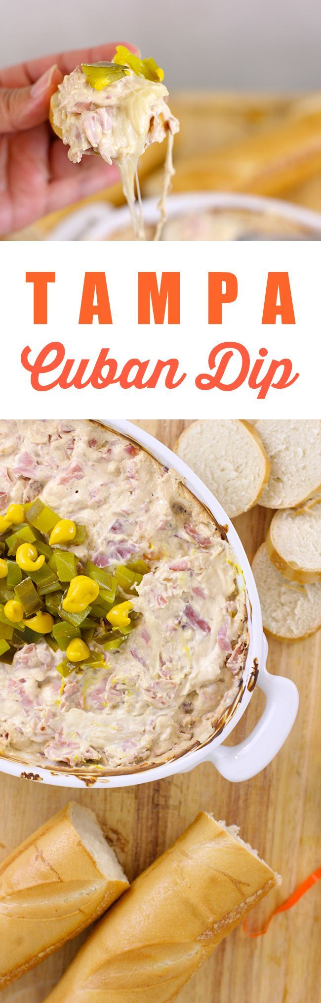 Get your game on with this Tampa Cuban Dip. Easy and drool worthy!  #gametimedips  AD