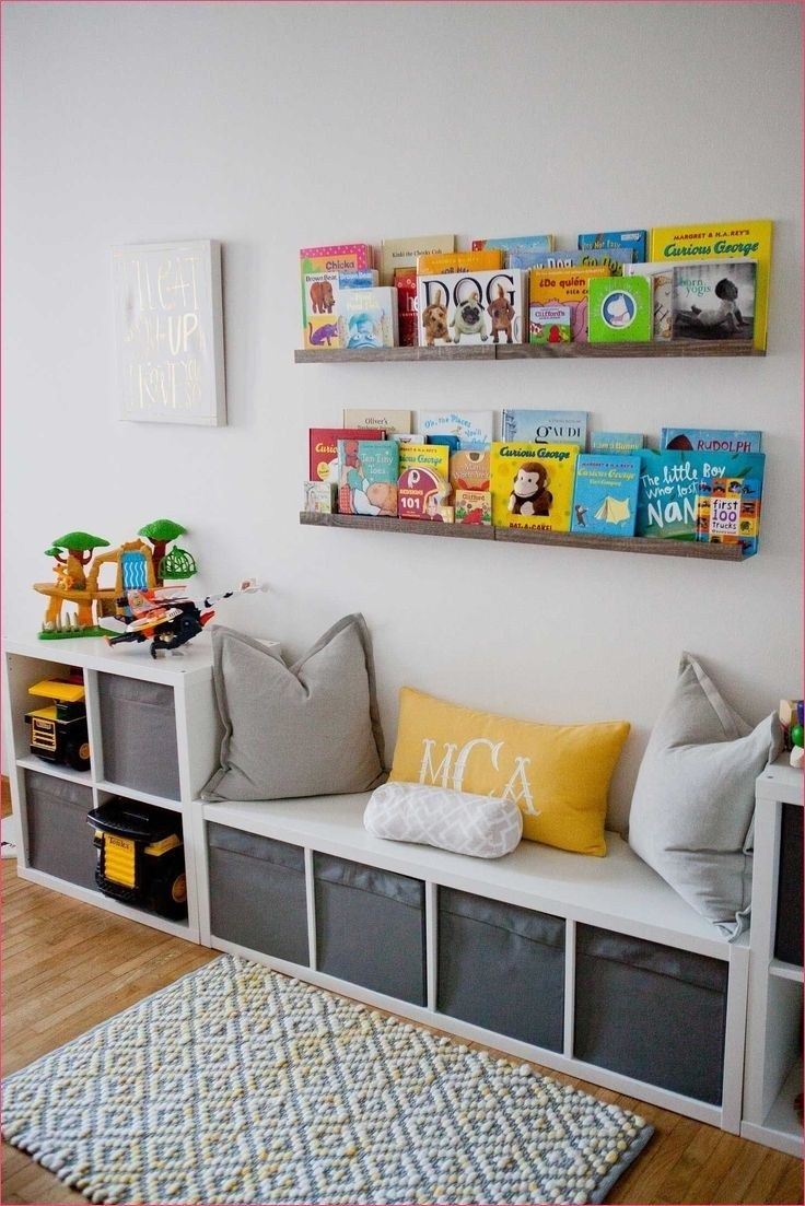 Cool Bedroom Toy Storage with IKEA - Let's DIY Home | Room ideas