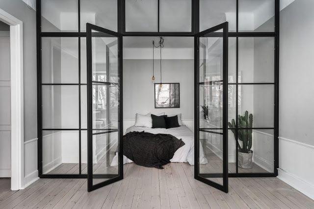 ATELIER RUE VERTE , le blog: Stockholm / Une chambre avec verrière /