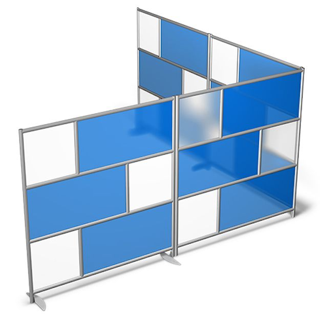 Modern Office Dividers To Divide A Space That You Can Customize With Glass,  Whiteboard,
