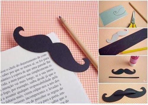 DIY: Punto de libro con forma de bigote