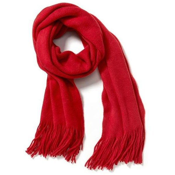 Old Navy Womens Solid Fringe Scarf ($17) ❤ liked on Polyvore featuring accessories, scarves, red, red scarves, old navy, red shawl, fringe shawl and old navy scarves