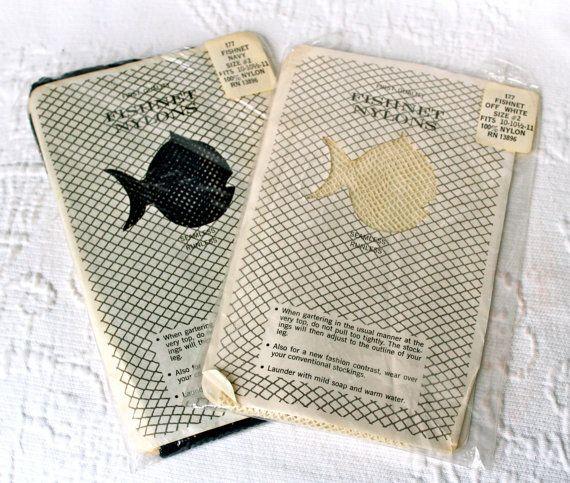 NOS Vintage Fishnet Nylon Stockings Lingerie by VioletteRain, $54.99
