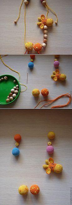 "Сборка слингобус-четок на примере ""Жирафика"" - Ярмарка Мастеров - ручная работа, handmade"