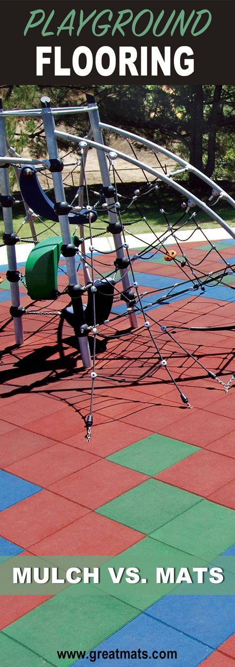 Which is better for playground safety - playground mulch or playground mats? Find out here!