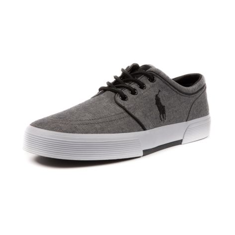 Shop for Mens Faxon Casual Shoe by Polo Ralph Lauren in Gray at Journeys Shoes. Shop today for the hottest brands in mens shoes and womens shoes at Journeys.com.Sporty causal sneaker from Polo featuring a cotton canvas upper, sharp-look side stitched Polo logo, and refined leather lace-up. Also features a padded shock absorbing insole and treaded rubber outsole for durable, everyday comfort. Available exclusively at Journeys! Available for shipment in February; pre-order yours today!