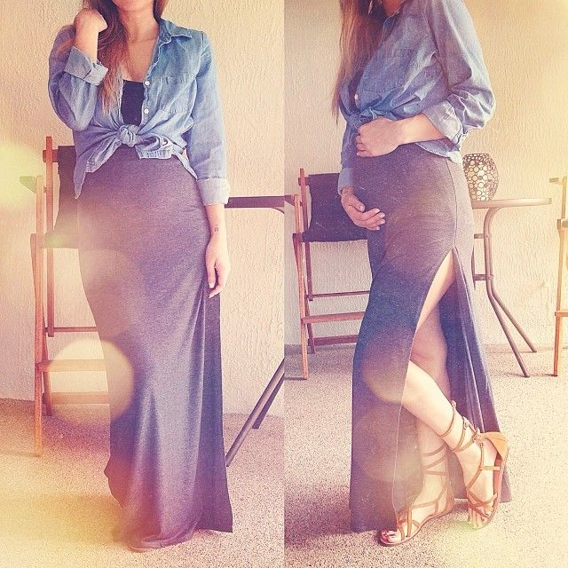 Love this maternity outfit, except the slit in the dress is a little too high for my taste.