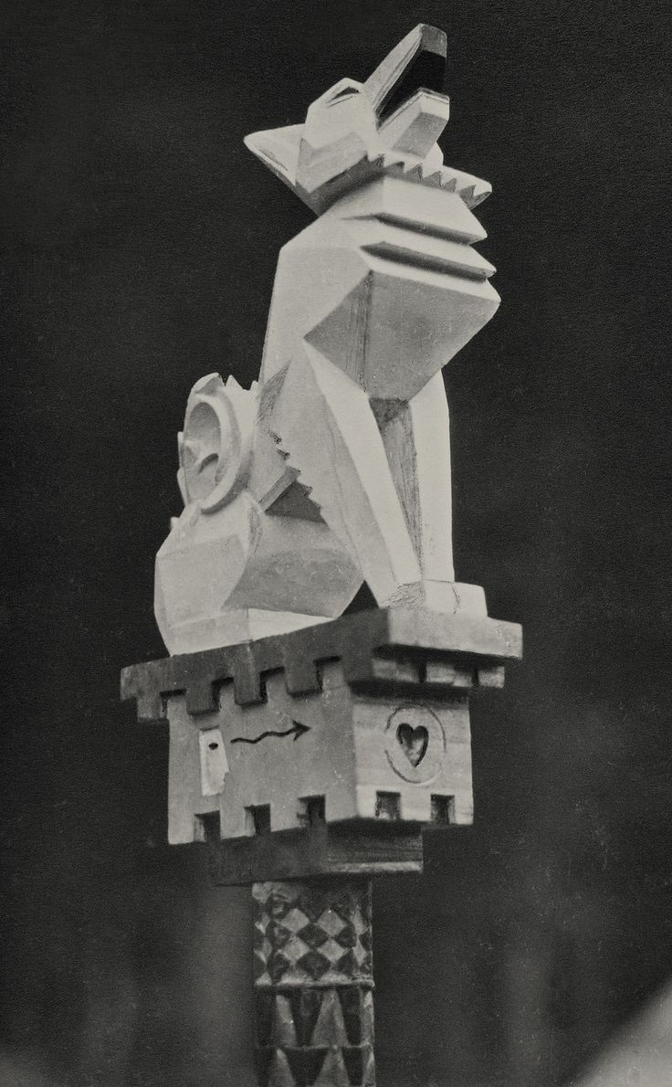 """desimonewayland: The Kindred of the Kibbo Kift – deliberately designed around the """"magical"""" letter K and using a kind of Anglo-Saxon esperanto – was formed in 1920. White Fox's hand-carved totem staff, c 1928. Formed by John Hargrave in 1920, the Kindred of the Kibbo Kift were an extraordinary mixture of the archaic and the hypermodern. A back-to-the-land movement... http://www.theguardian.com/artanddesign/2015/nov/02/kindred-of-the-kibbo-kift-1920s-youth-movement#img-2"""
