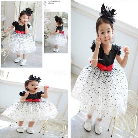 Платья newest летние grils yran свободного покроя платье дети черный белый носить 4 шт./лот милые дети гипсофилы платье принцессы платье
