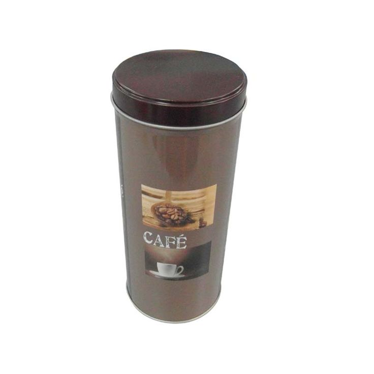 This tall round coffee tin container can be printed your desired design and embossed your own logo to upscale your image of your products and enhance your brand.