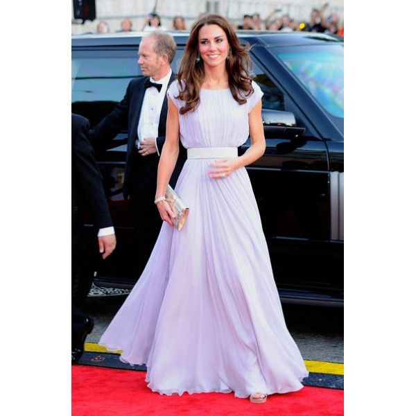 Kate Middleton Lavender Prom Dress 2011 BAFTA Red Carpet #KateMiddleton #Lavenderdress
