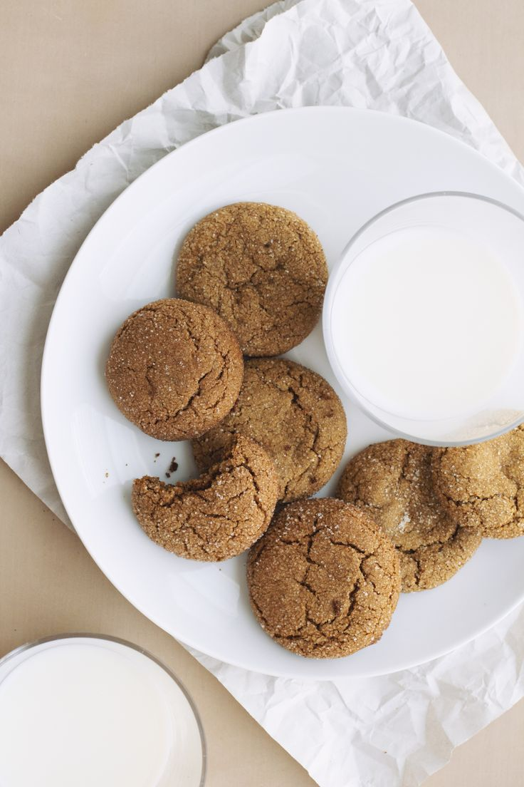 Chickpea gingersnaps - used a mix of chickpea, quinoa, and millet flours
