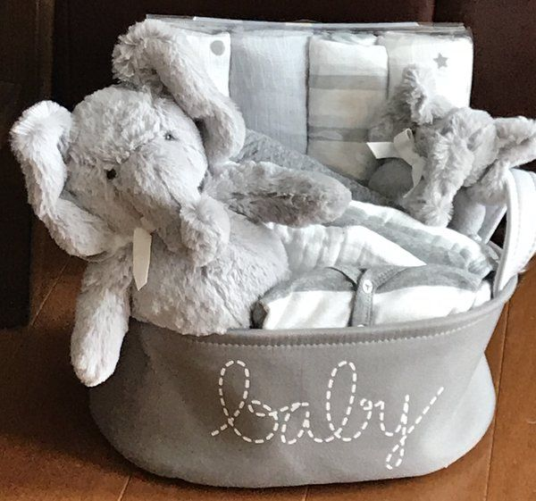 Baby gift baskets by fivebrownmonkies 123 baby elephant gift basket negle Images