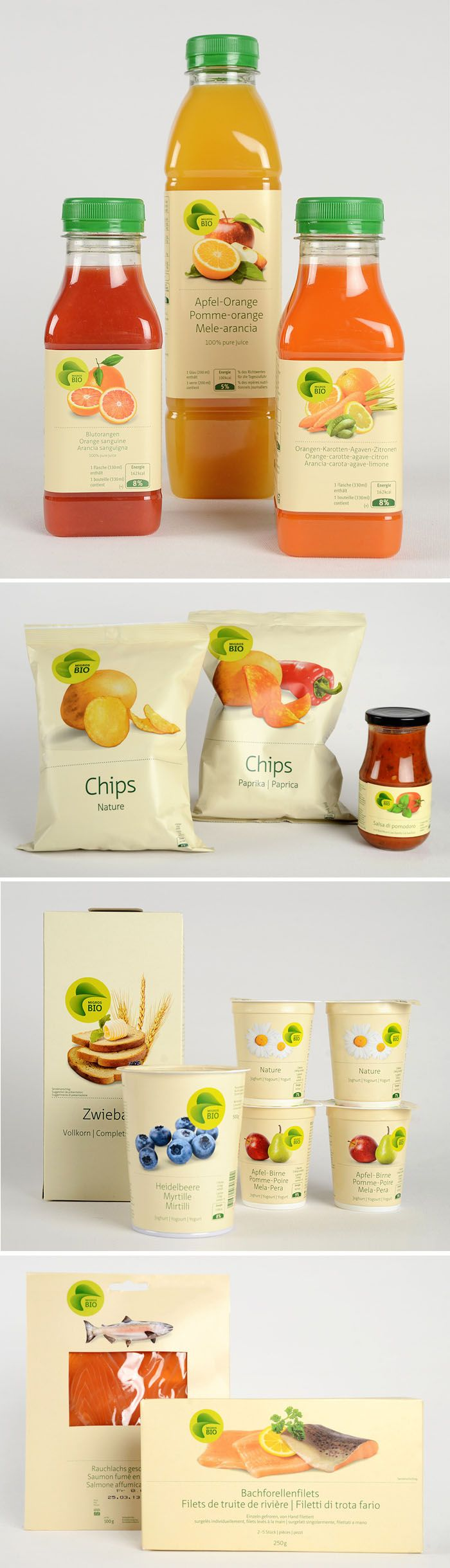 Switzerland retailer Migros' BIO range | developed by graphic designer Pascal Frey and art director Schneiter Meier