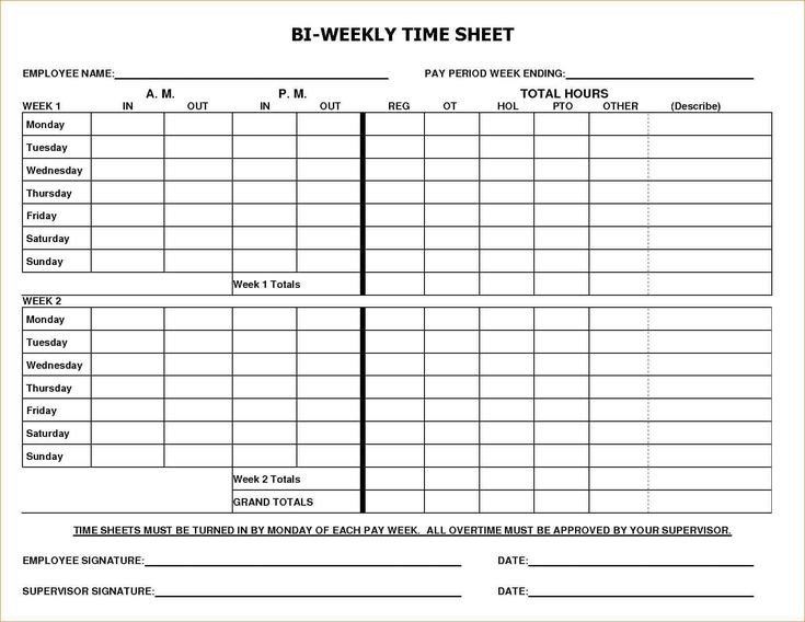 Payroll Timesheet Template Free And Payroll Template Pdf From