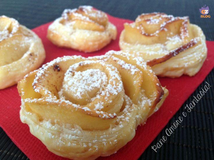 Rose di mele e pasta sfoglia - dolce delizia | Pane Amore e Fantasia!