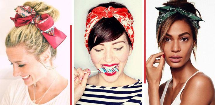Bandana binden: Coole Sommerfrisuren zum Nachmachen