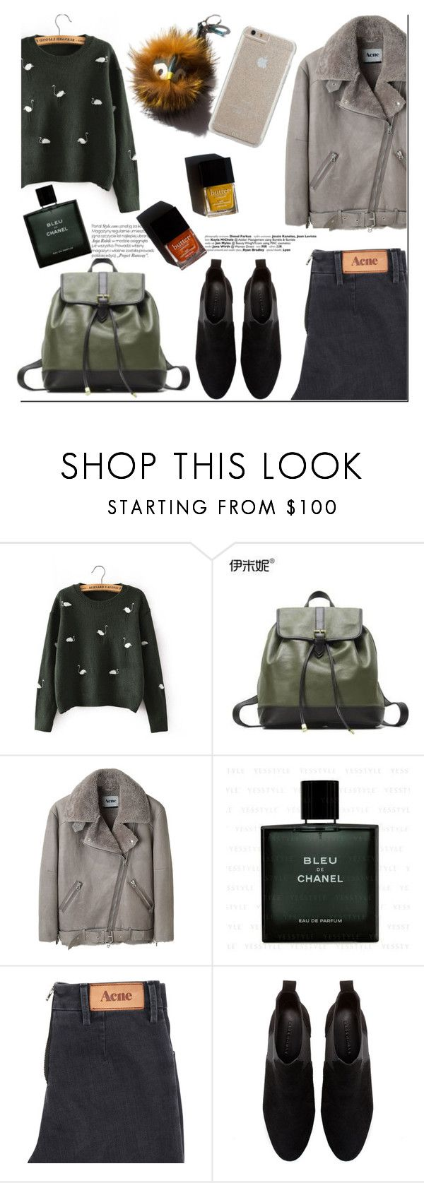 """Cyber Monday - YesStyle"" by nastya-d ❤ liked on Polyvore featuring Singkbee, Emini House, Anja, Acne Studios, Chanel, Zara, Garance Doré, Case-Mate, winterfashion and yesstyle"