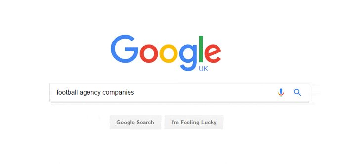 How to search for a football agent on google