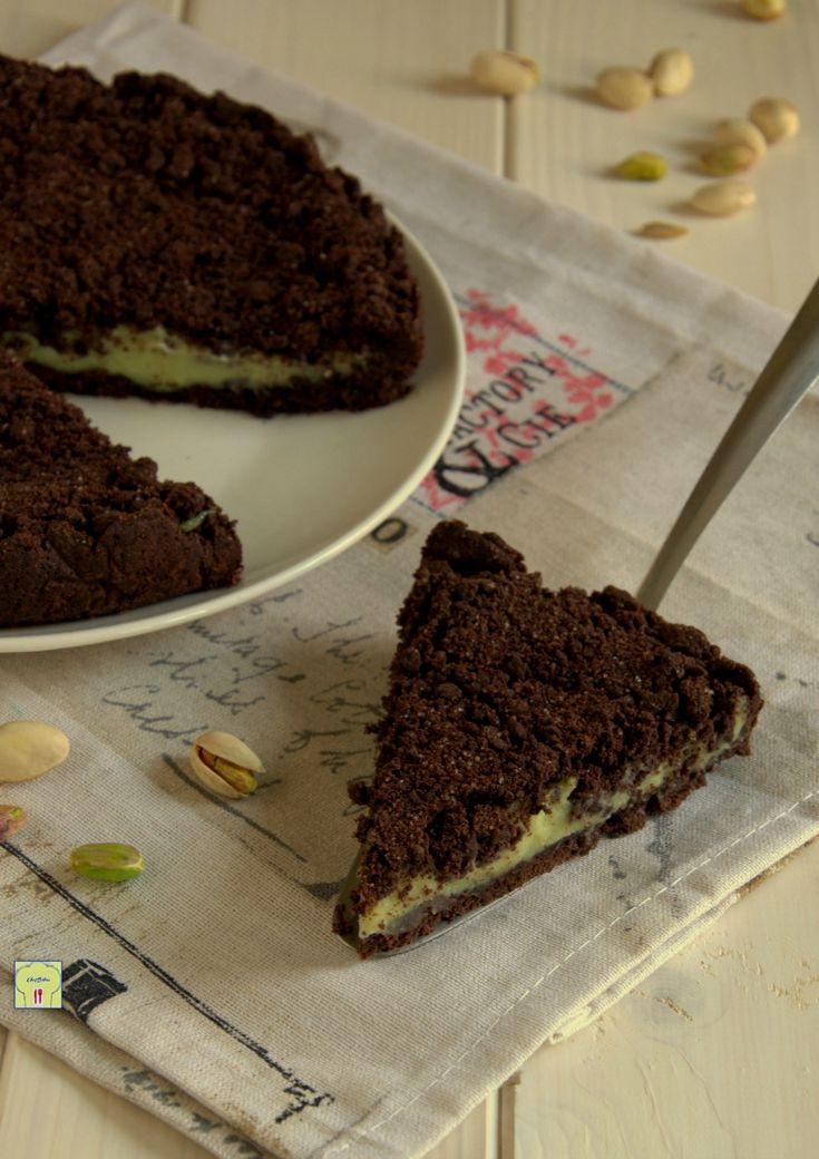 sbriciolata al cacao e crema al pistacchio gp