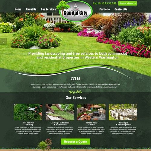 Create A Sophisticated Landscaping Company Homepage We Provide Landscaping Services Tree Removal Pruning Lands Tree Service Landscaping Company Tree Removal