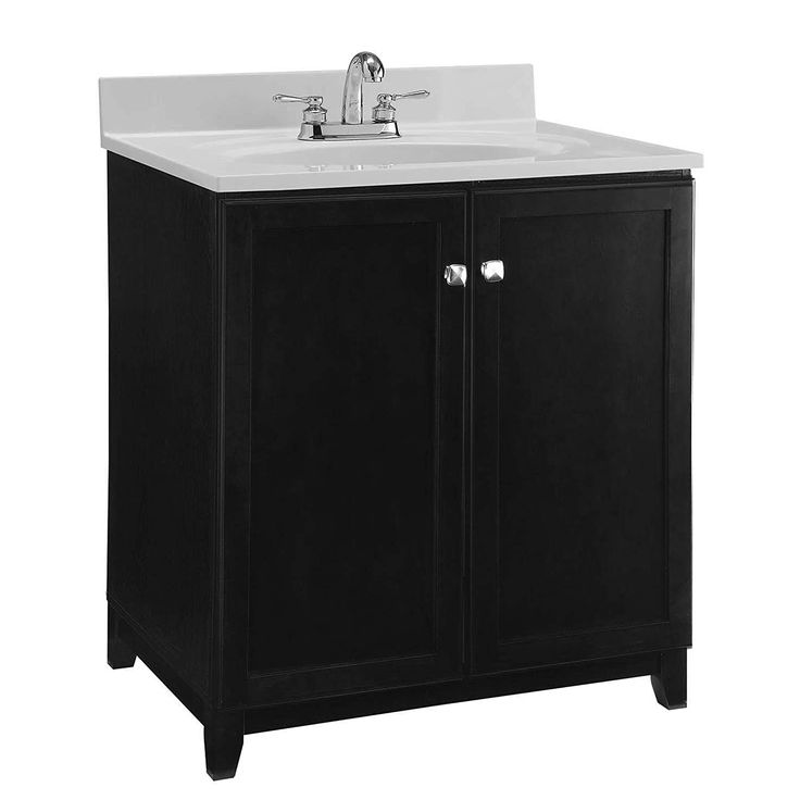Design House 547000 Shorewood Furniture Style Vanity Cabinet With 2 Doors 30 Inches By 21 Inches Espresso Bathroom Vanity Base Single Bathroom Vanity Single Sink Bathroom Vanity