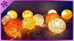 DIY Cotton ball lights (ENG Subtitles) - Speed up #258