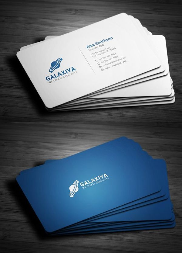 Modern Corporate Business Card With Images Business Cards
