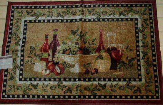 This Wine And Fruit Themed Kitchen Area Rug Will Add A