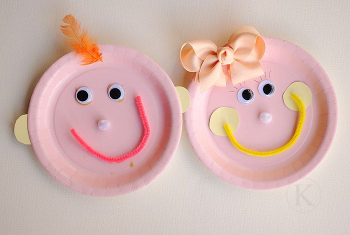 this is so cute. Have your kids create a paper plate face that looks like them!