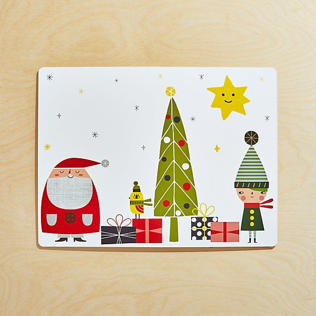 Christmas Whimsy Cork Backed Hard Placemat Christmas Table Linen Christmas Placemats Whimsical Christmas