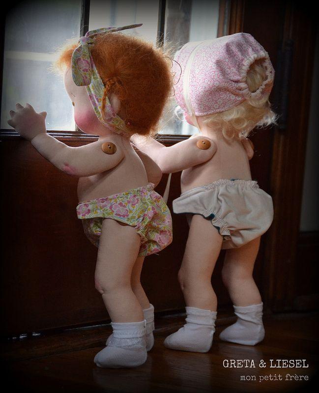 -Handmade natural fiber dolls by Mon Petit Frère