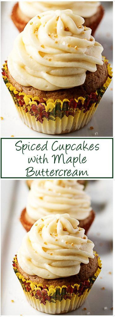 #Spicedcupcakes #maplebuttercream #buttercream #cupcakes #fallrecipe #dessert #maple #buttercream