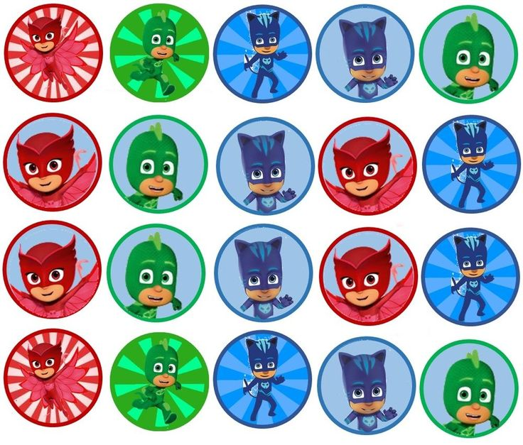 PJ Mask Edible Image 1,5 inch Cookie or Cupcake Topppers in Home & Garden, Kitchen, Dining & Bar, Cake, Candy & Pastry Tools | eBay