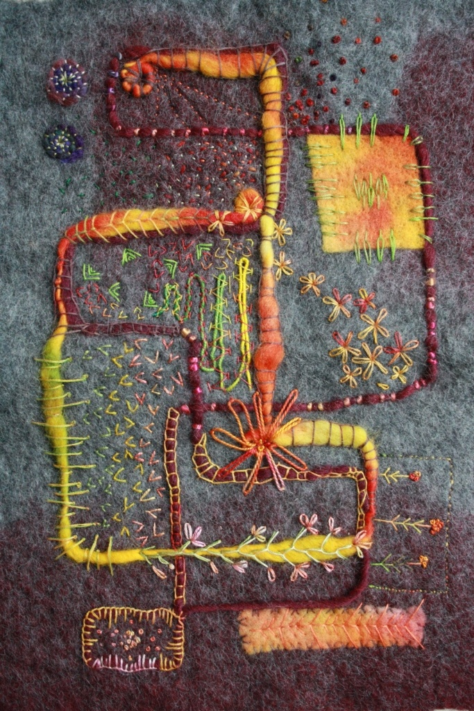 Barbara Baumgartner - nice idea for a fabric postcard