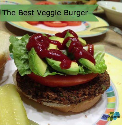 Veggie Burger Recipe, vegan @ecokaren