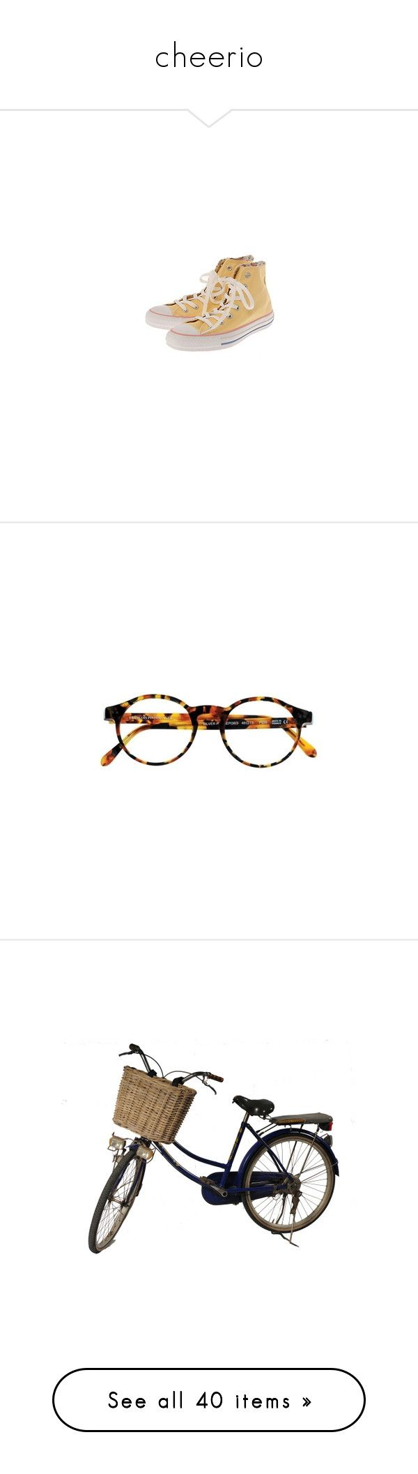 """cheerio"" by kampow ❤ liked on Polyvore featuring shoes, sneakers, converse, footwear, filler, accessories, eyewear, eyeglasses, glasses and sunglasses"