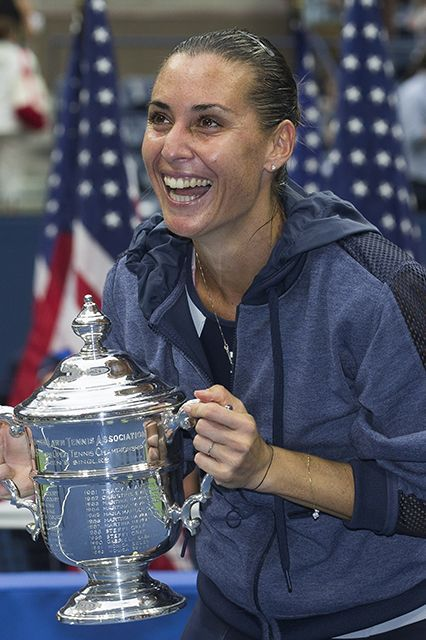 Flavia Pennetta won the U.S. Open yesterday, then made the ultimate mic drop announcement