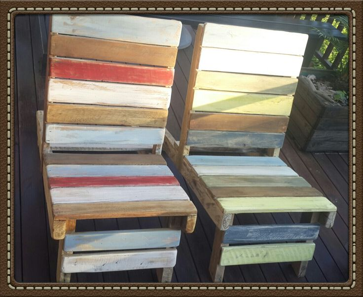 Pallet chairs by Mandy