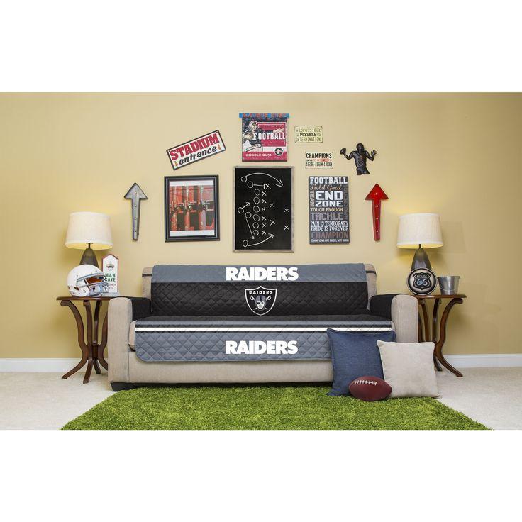 Pegasus Licensed NFLOakland Raiders Sofa Protector