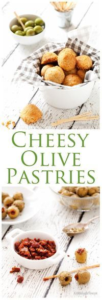 Cheesy Olive Pastries are your must have party nibble. Packed with Mediterranean flavours, these irresistible little bites will be gone in the blink of an eye.